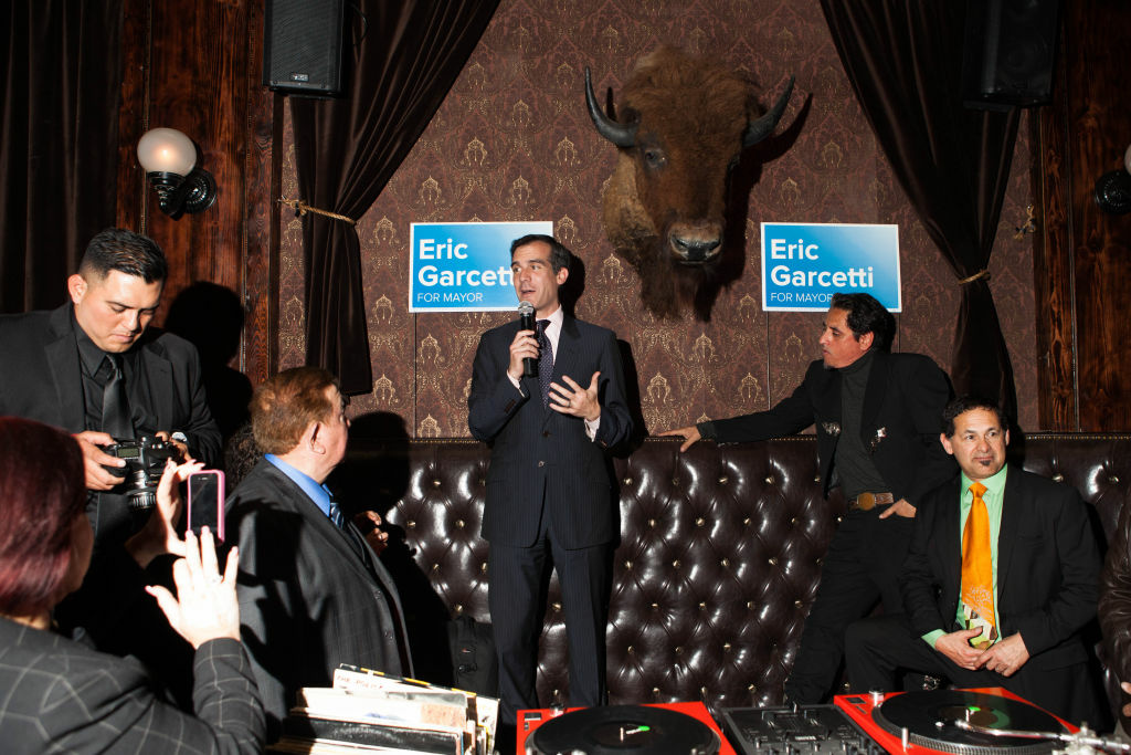 Eric Garcetti at a fundraiser for Latino supporters during his mayoral campaign.