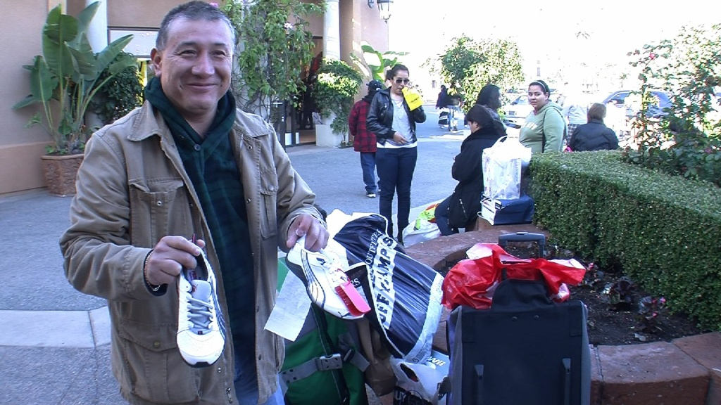 Jorge Andrés Velasquez Gomez, from Guadalajara, flew to Tijuana to cross the border and shop at the Las Americas outlet mall in San Ysidro, Calif.