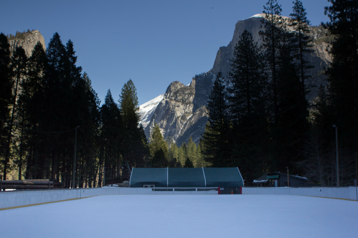 The National Park Service's Merced River Master Plan requires Yosemite's planners to consider the impact of commercial services in the river corridor. The final plan will move the rink, but not close it.