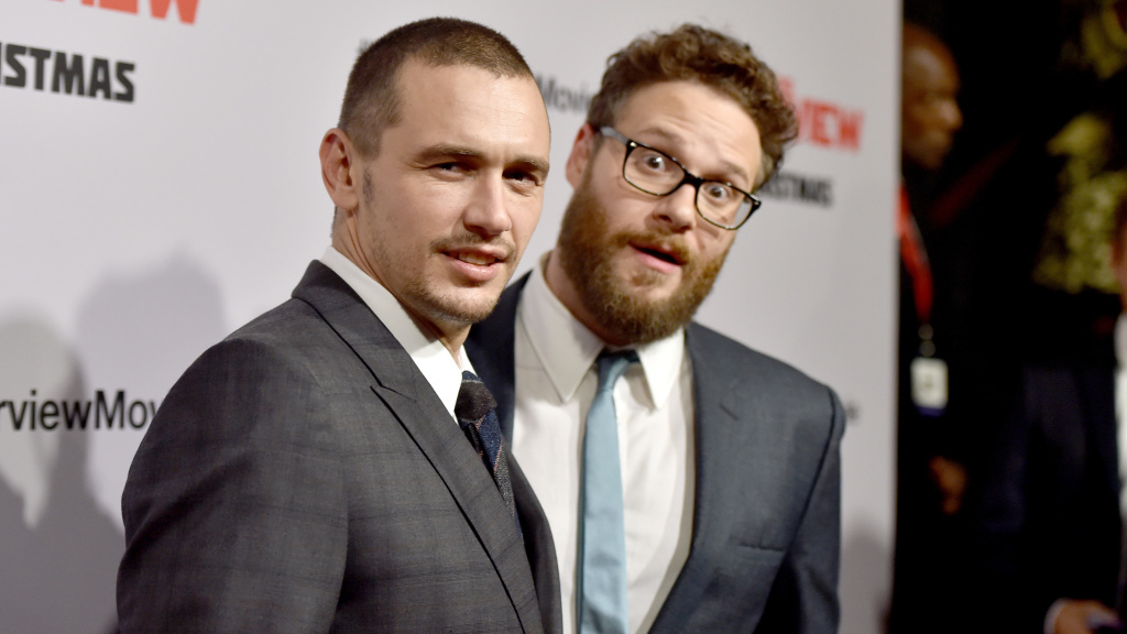 Actor James Franco (left), seen here with <em>The Interview</em> co-star Seth Rogen, was called