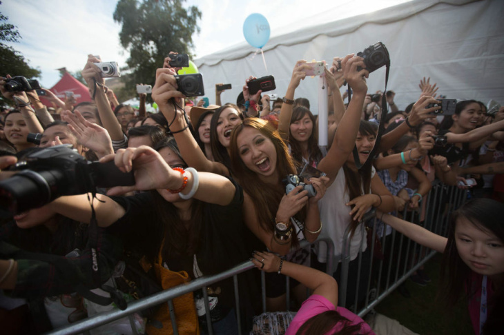 Huang Zi Tao of the group EXO-M was one of many pop superstars at KCON, the United States' first convention for Korean pop music, at the Verizon Ampitheatre in Irvine, Calif. on Saturday, Oct. 13. Tao is part of the Chinese wing of the pan-Asian supergroup.
