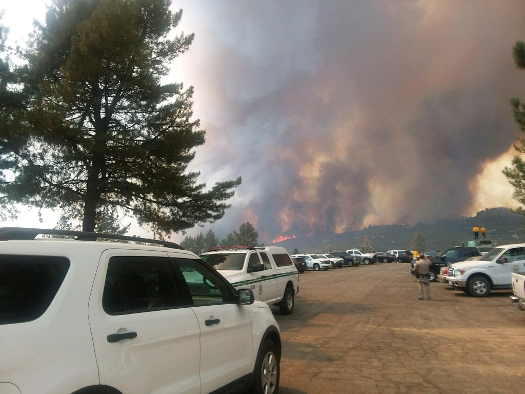 The Cranston Fire, seen near Idyllwild on Wednesday, July 25, 2018, broke out about noon and quickly grew to 1,200 acres.