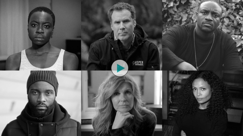 In a video posted Wednesday, a number of celebrities stare silently into a camera to illustrate that they're still waiting for world leaders to fight Ebola.