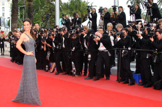 US actress Evangeline Lilly arrives for the screening of 'La Princesse de Montpensier' presented in competition at the 63rd Cannes Film Festival on May 16, 2010