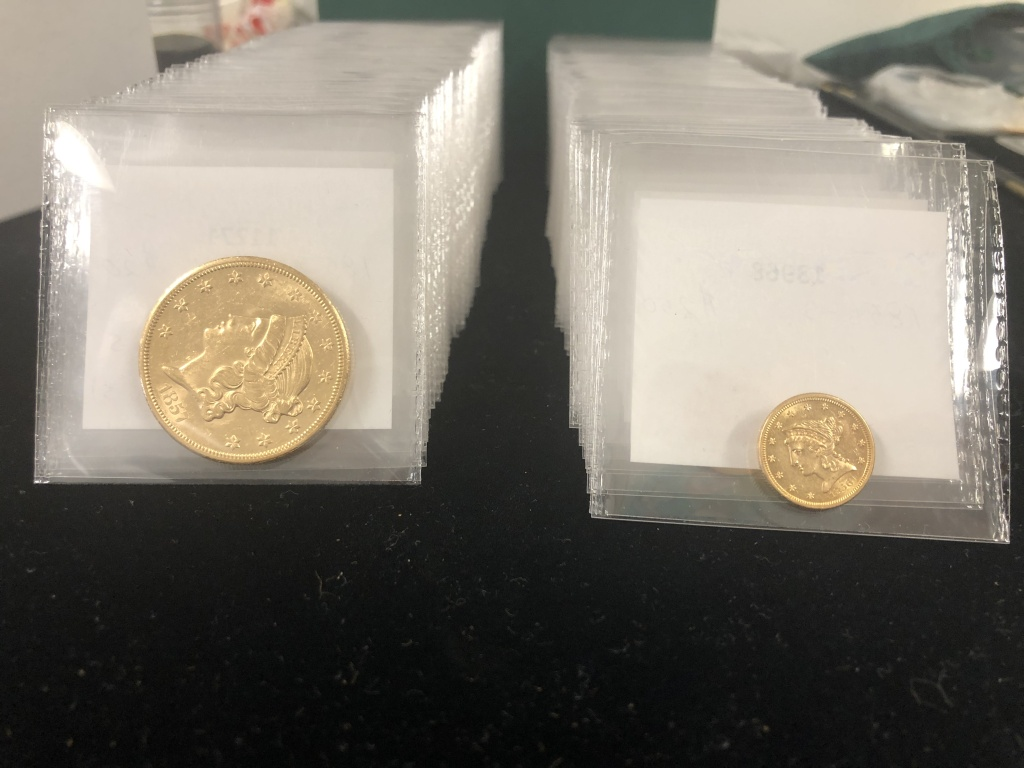 Gold coins from the SS Central America