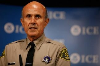 Los Angeles County Sheriff Lee Baca talks about the Department of Homeland Security's Secure Communities program in Washington, DC.