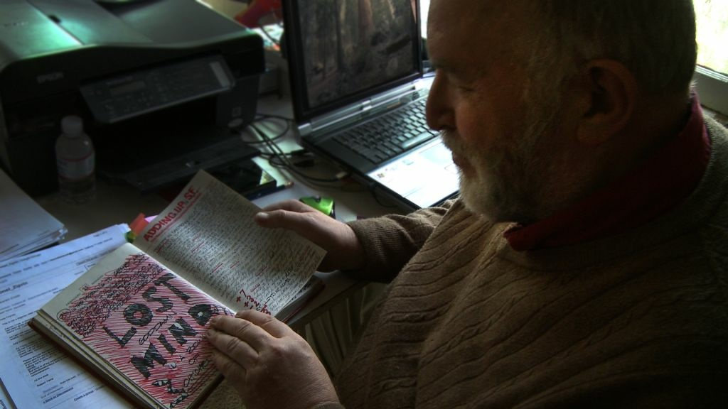 A bipolar sufferer reads from his journal during the documentary film