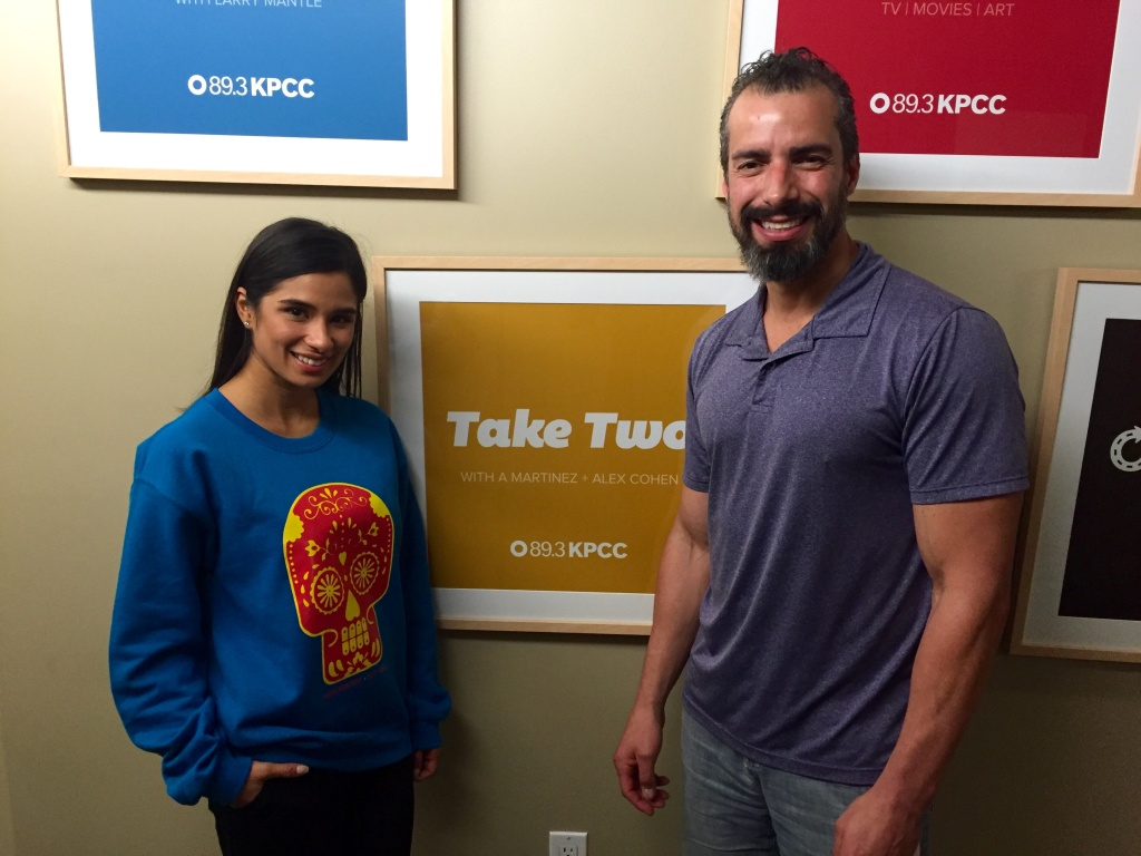 Diane Guerrero and A Martinez at KPCC.