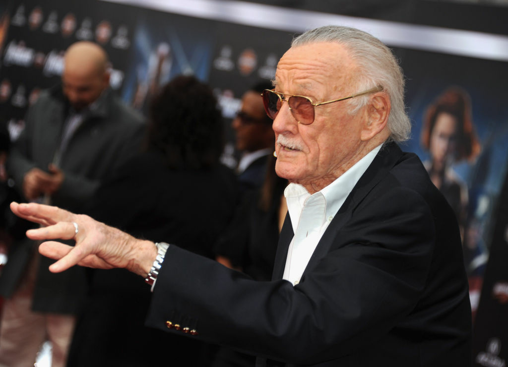 Writer/producer Stan Lee arrives at the premiere of Marvel Studios'
