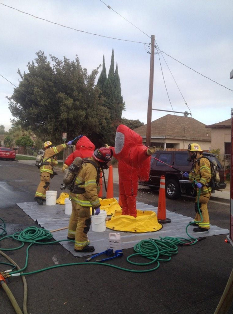 Riverside Fire Department tweeted this photo Monday morning.
