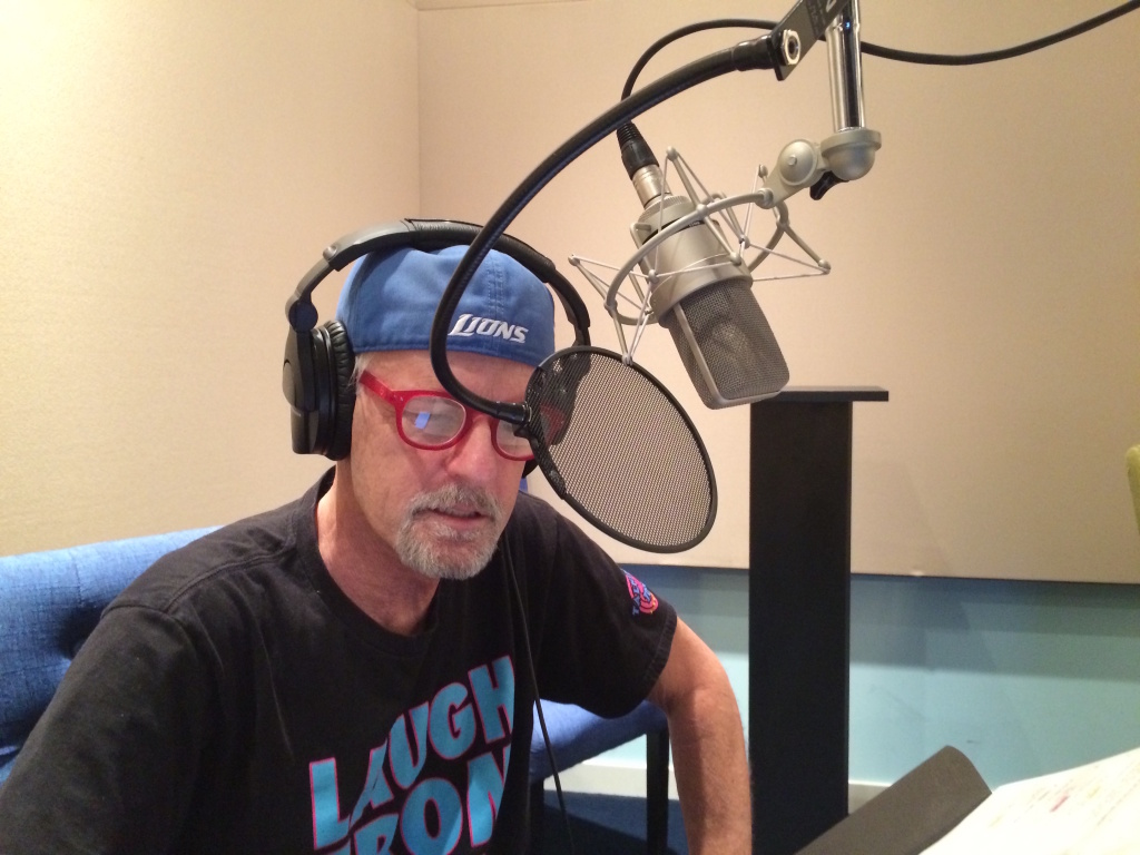 Rob Paulsen in recording studio working on the Netflix series