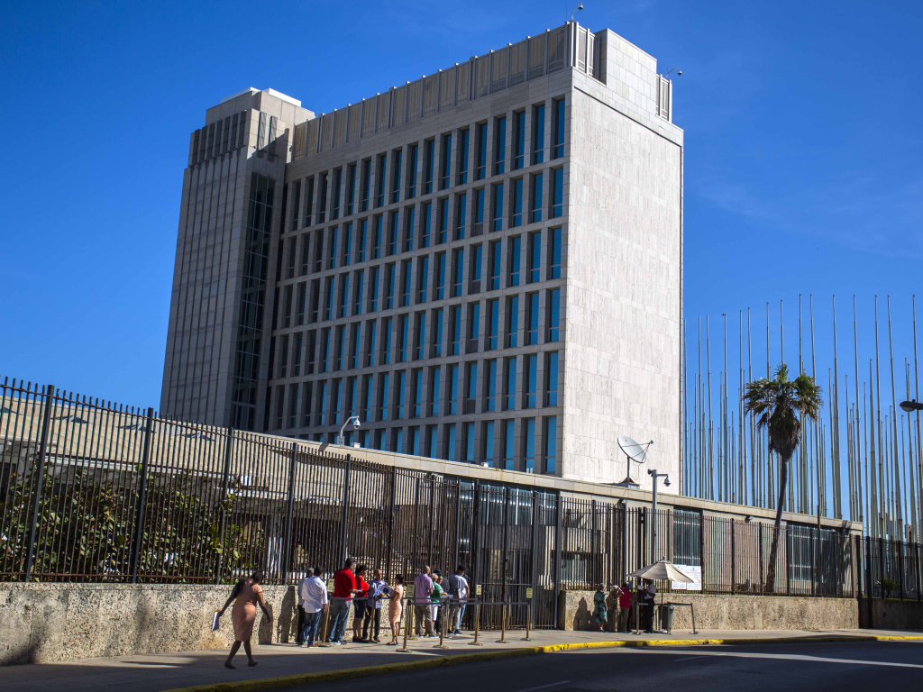 The State Department is suspending visa services at the U.S. Embassy in Havana indefinitely.