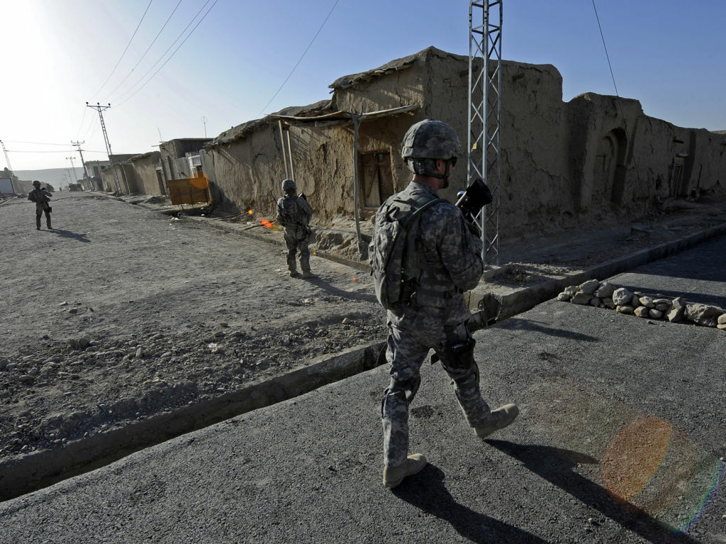A US service member on patrol in Afghanistan. The US is scaling down its operation there, but appears to be keeping up its war on terror by developing a list of terrorists called a