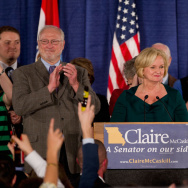 Democratic Senate Candidate Sen. Claire McCaskill Holds Election Night Gathering