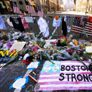 Memorials And Sunday Services Held In Honor Of Boston Marathon Bombing Victims