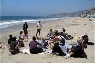 Malibu Beach Rangers stake out public land and tell the people how to do it.
