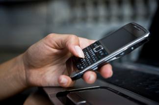 Text messaging on a cellphone
