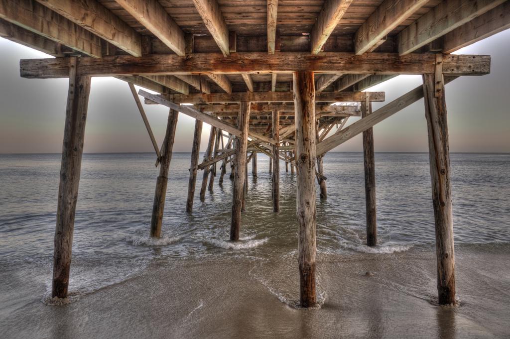 Underneath Malibu Pier.