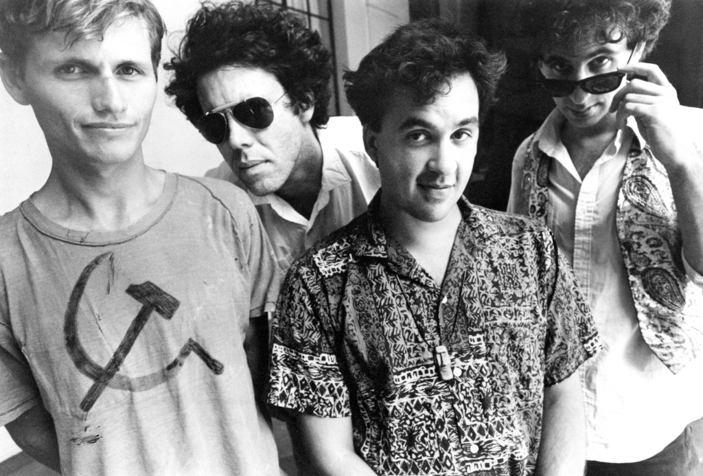 The Romans, 1986. L-R: Michael Uhlenkott, the late Keith Mitchell, Juan Gomez, and Robert Lloyd