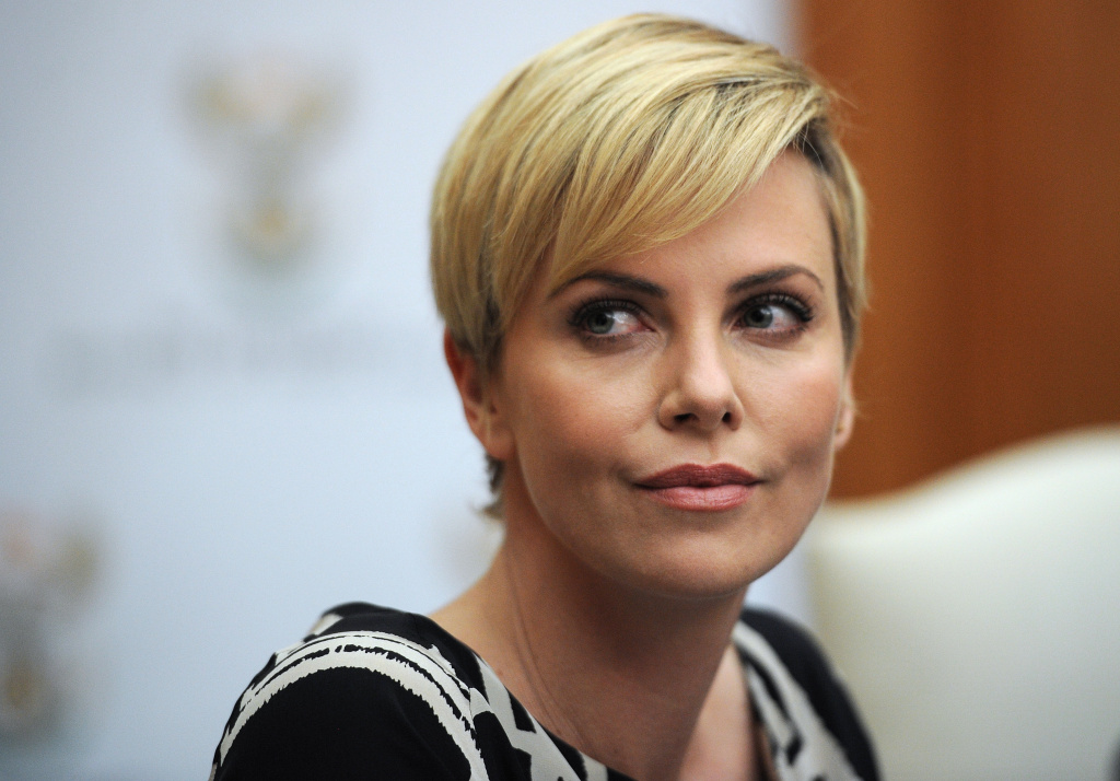 South African-born Hollywood actress and UN Messenger of Peace Charlize Theron attends a press conference on July 29, 2013, at the Unions Building in Pretoria.