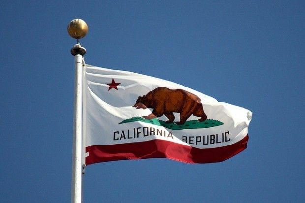 California state flag, San Francisco, October 2008