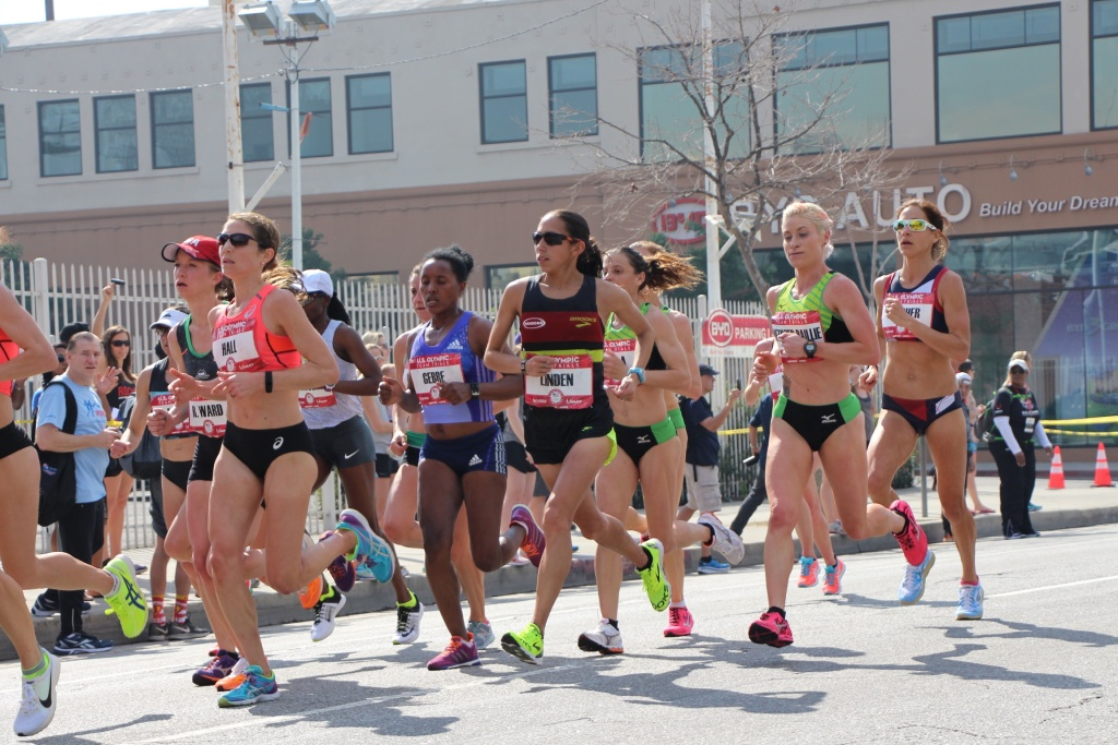 Desiree Linden at the 2016 Olympic trials in LA.
