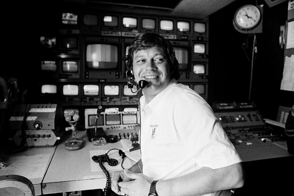 FILE - This April 14, 1978, file photo shows TV producer Don Ohlmeyer at a mobile TV control center during a golf tournament in Rancho Mirage, Calif. Ohlmeyer, the