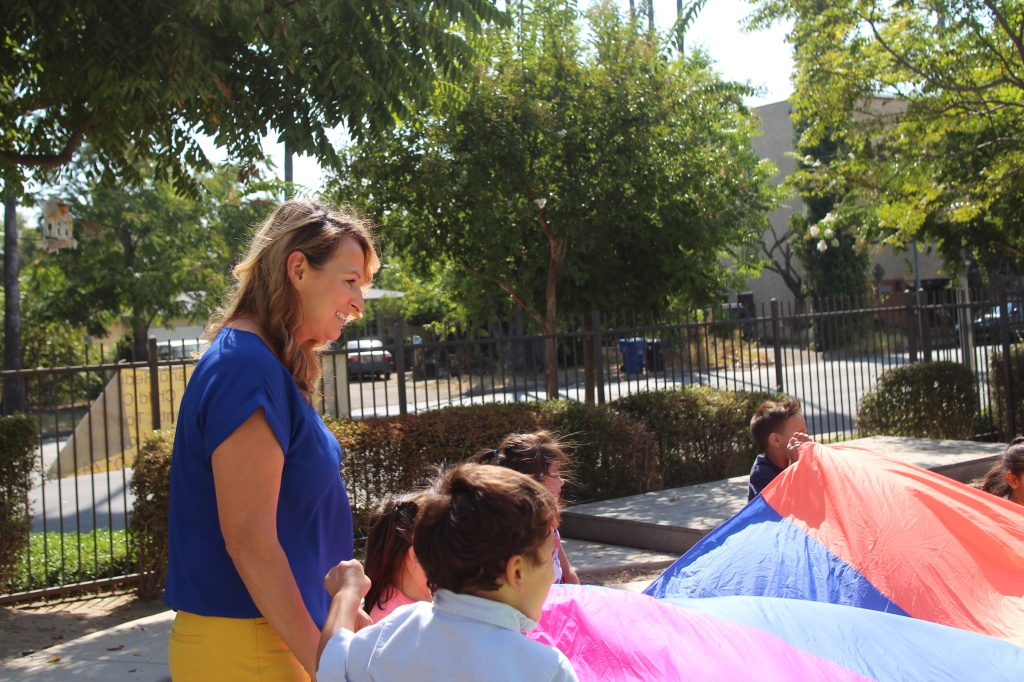 Selma Sanchez, program director of the Child Development Consortium of Los Angeles, oversees ten child care centers. When the majority of staff at this Canoga Park center left for other jobs, she stepped in to pick up the slack.