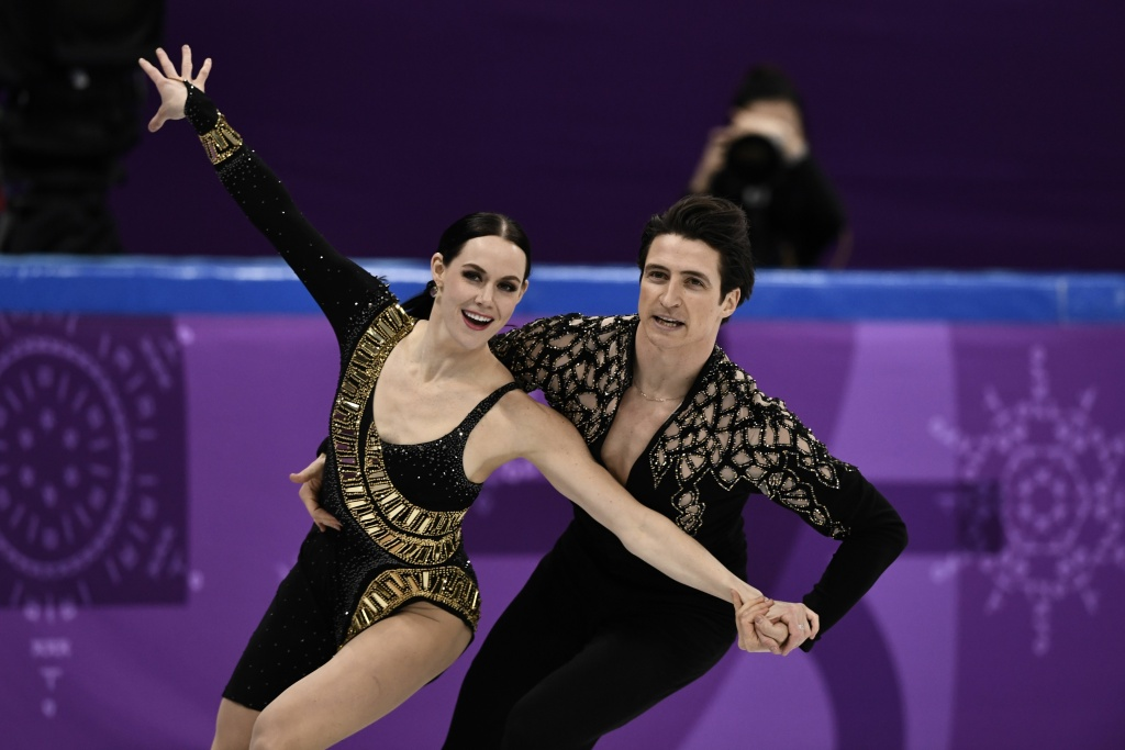 Canada's Scott Moir and Tessa Virtue danced to