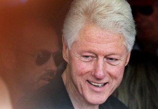 RHINEBECK, NY - JULY 30: Former U.S. President Bill Clinton leaves a restaurant after having lunch in the town where his daughter Chelsea Clinton plans to marry July 30, 2010 in Rhinebeck, New York. July 30, 2010 in Rhinebeck, New York.