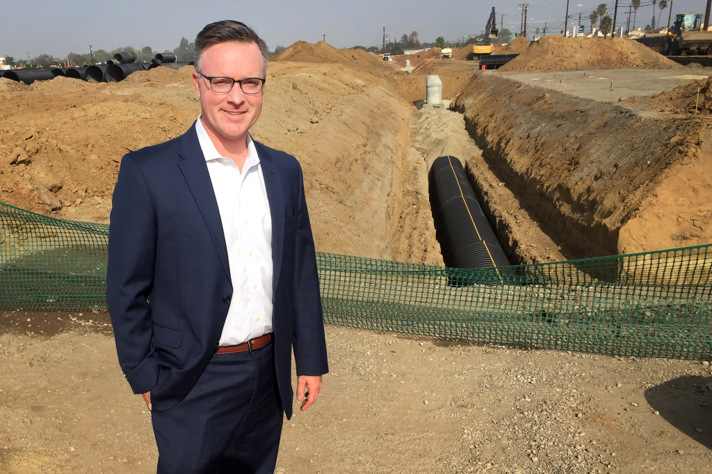 "Greg Ames is managing director at Trammell Crow. Ames says the greater South Bay real estate market where Compton sits is roughly 300 million square feet of industrial space, and only about 2 percent of that is vacant at a given time. ""Everything is pretty much occupied,"" he said."