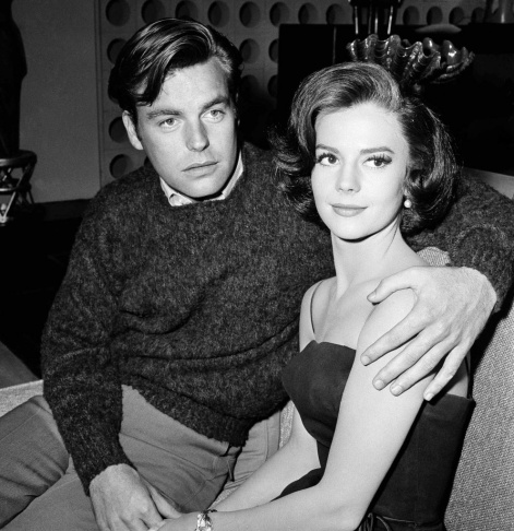 In a Nov. 25, 1959 file photo, Natalie Wood and her husband Robert  Wagner are made up for their roles in