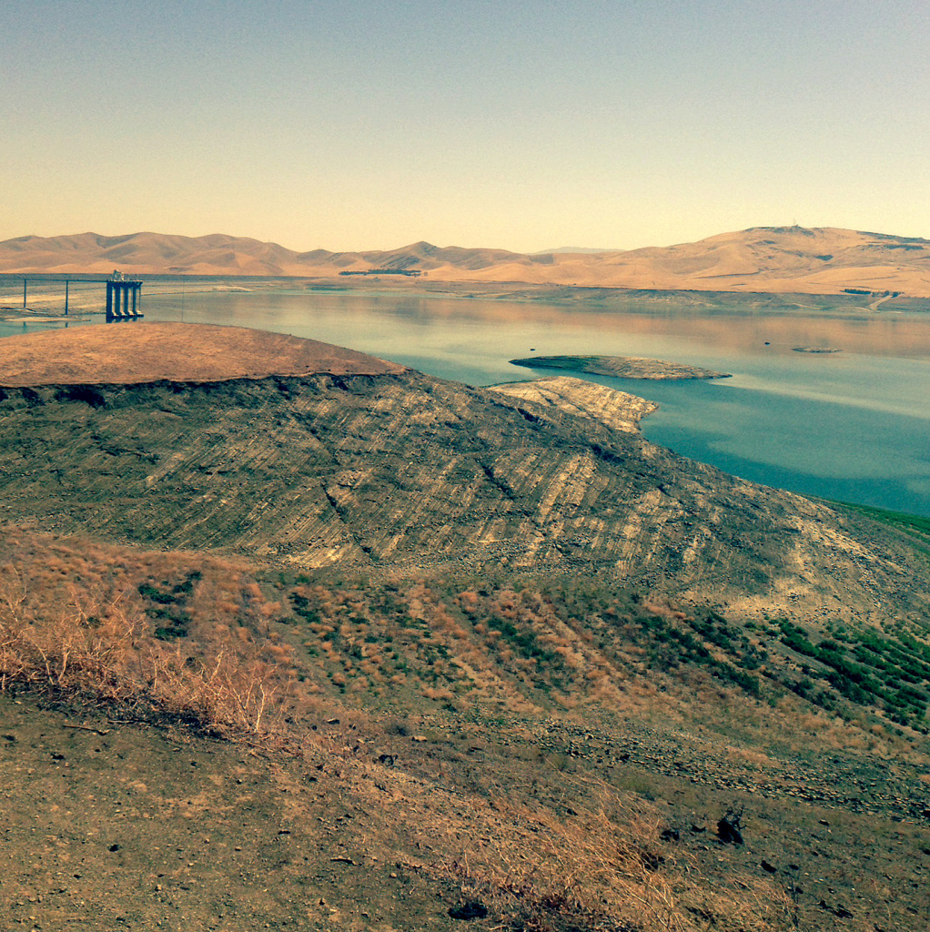 The San Luis Reservoir in central California is the largest