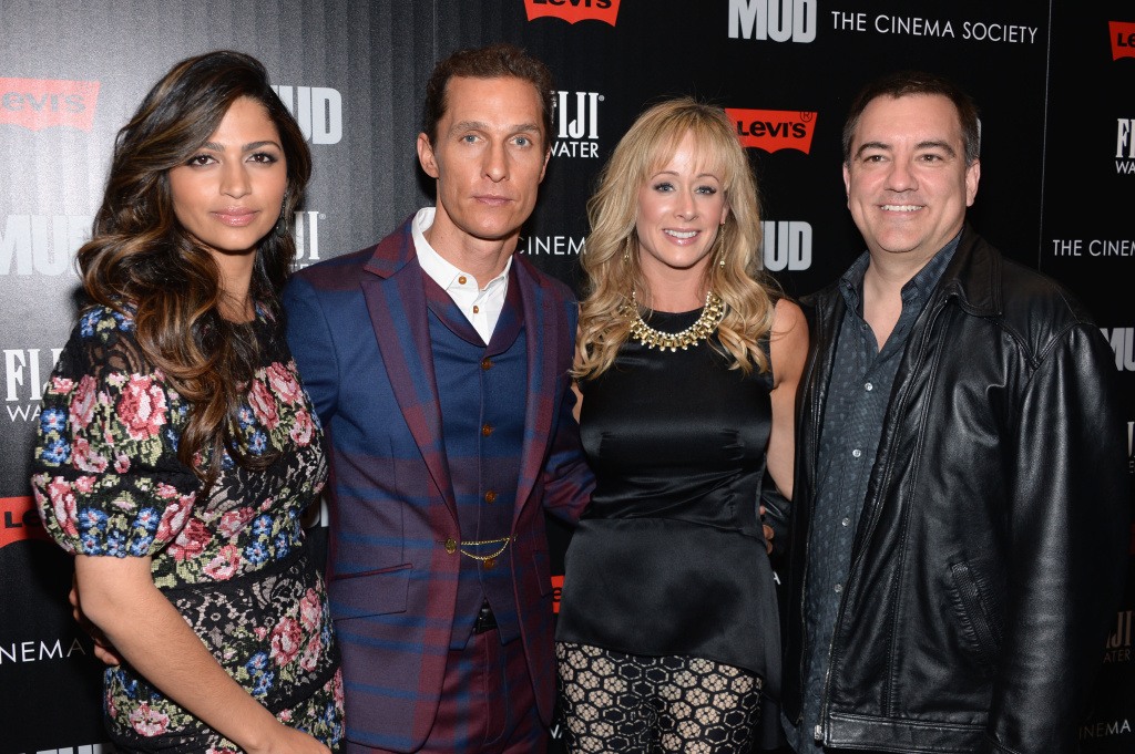 Camila Alves, Matthew McConaughey, Andra Liemandt and Joe Liemandt attend the Cinema Society with FIJI Water & Levi's screening of