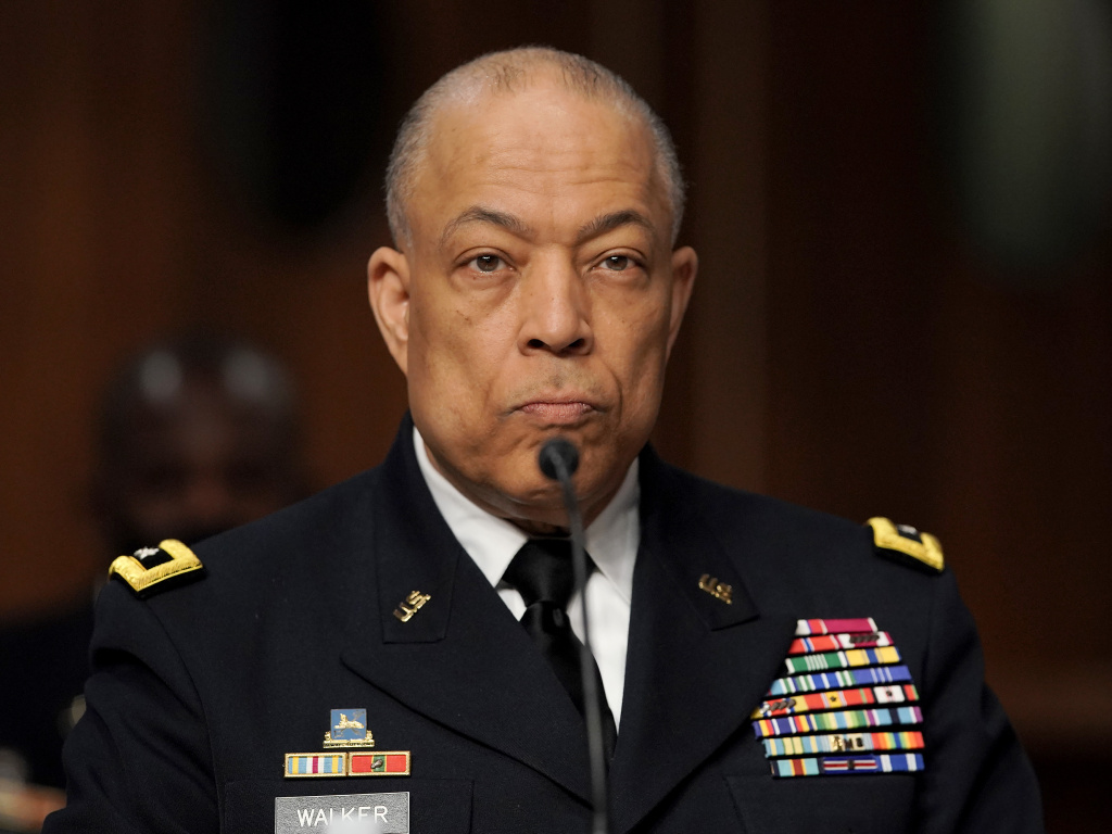 Army Maj. Gen. William Walker, Commanding General of the District of Columbia National Guard is seen during a joint hearing to discuss the January 6th attack on the U.S. Capitol.