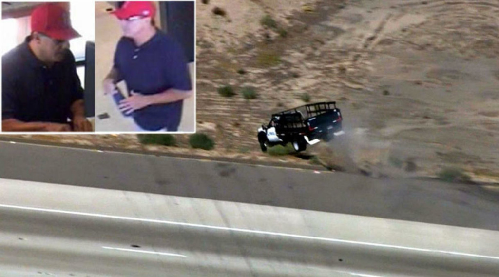 The end of a police chase Thursday, Oct. 2, 2014 along with shots of the