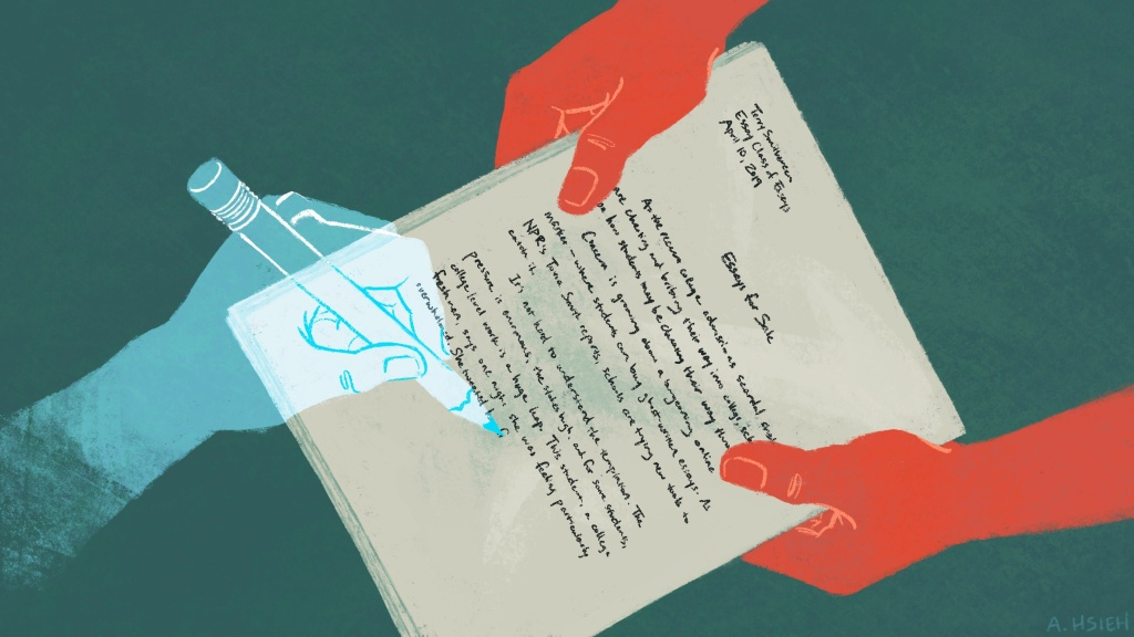Concern is growing about a burgeoning online market for ghostwritten essays that students can turn in as their own work. And schools are trying new tools to catch it.