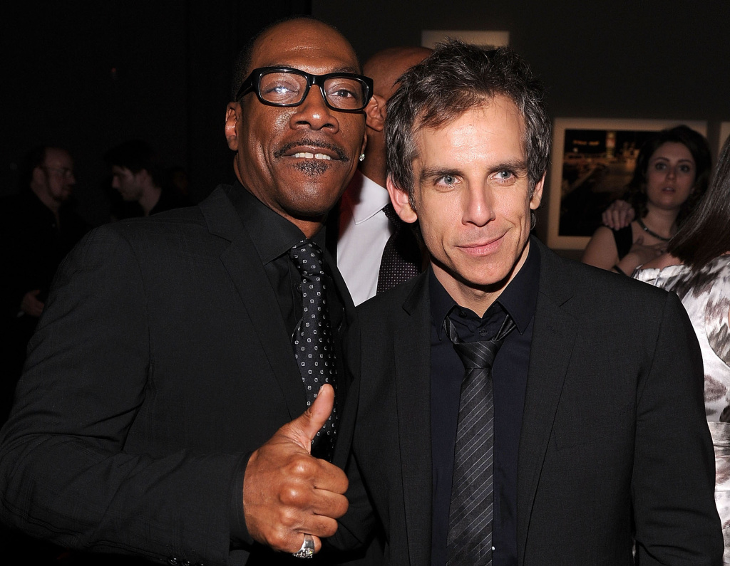 FILE: Eddie Murphy and Ben Stiller attend the HELP HAITI benefiting The Ben Stiller Foundation and The J/P Haitian Relief Organization at the Urban Zen Center At Stephan Weiss Studio on February 11, 2011 in New York City.