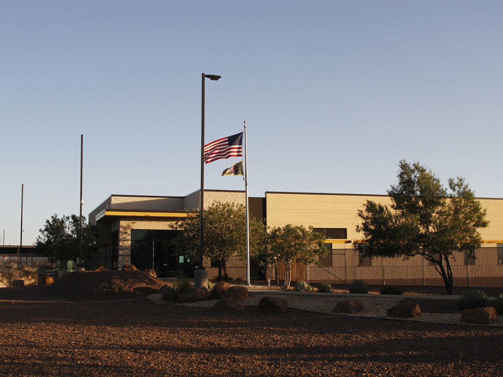The entrance of a Border Patrol station in Clint, Texas. U.S. Customs and Border Protection said the agency is removing children from the facility following reports of unsanitary conditions inside.