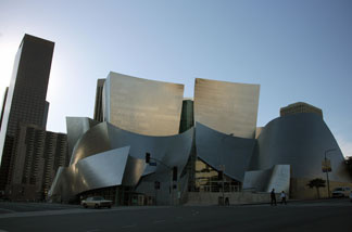 The Walt Disney Concert Hall is seen in Downtown Los Angeles, California, 14 January 2008.