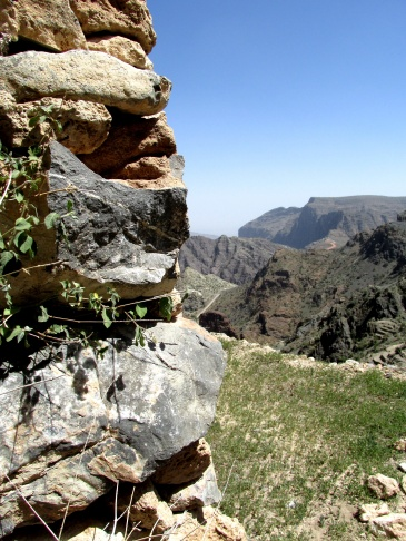 Terrace wall near village of Al Ayn