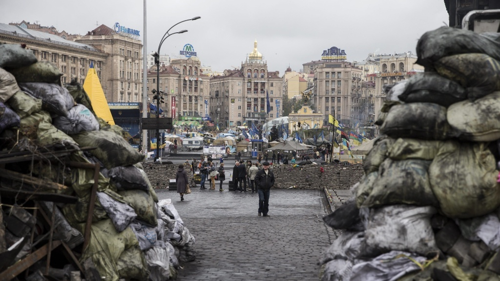Many Jews protested in Kiev's Independence Square, and see a thread connecting ancient Egypt to modern-day Ukraine.