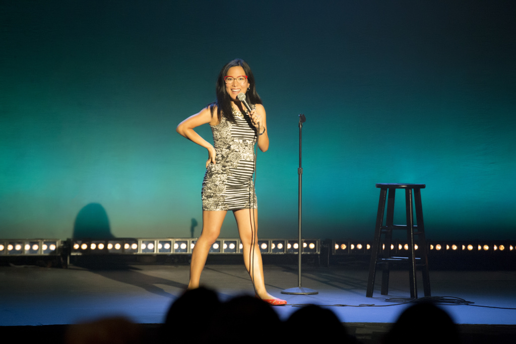 Comedian Ali Wong performing during her Netflix special,