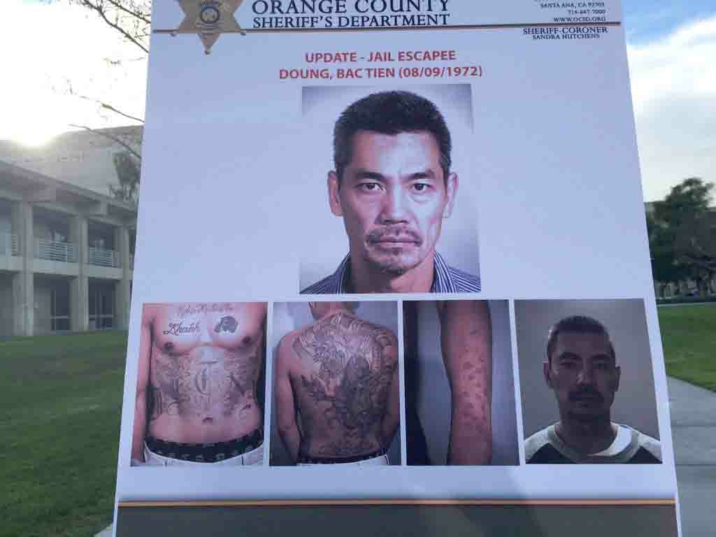 Photos of Orange County jail escapee Bac Duong, shown at a press conference on Wednesday, Jan. 27, 2016.