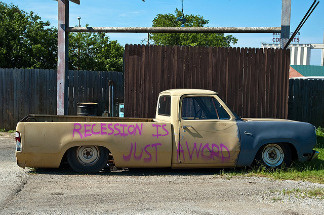 I know you lost your job, car, house and healthcare... but maybe you haven't heard, the recession ended last year!
