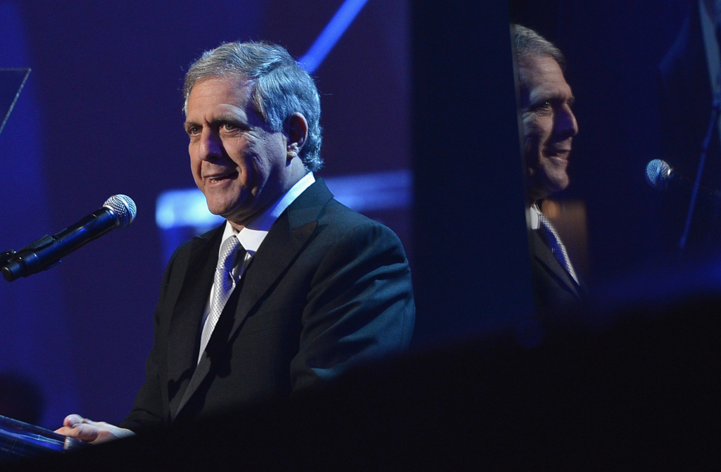CBS President/CEO Les Moonves speaks onstage at the 55th Annual GRAMMY Awards Pre-GRAMMY Gala and Salute to Industry Icons honoring L.A. Reid held at The Beverly Hilton on February 9, 2013 in Los Angeles.