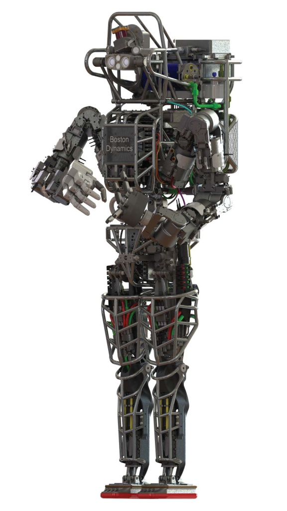 DARPA's Atlas robot, developed by Boston Dynamics, is 6 feet 2 inches tall and weighs 330 pounds.
