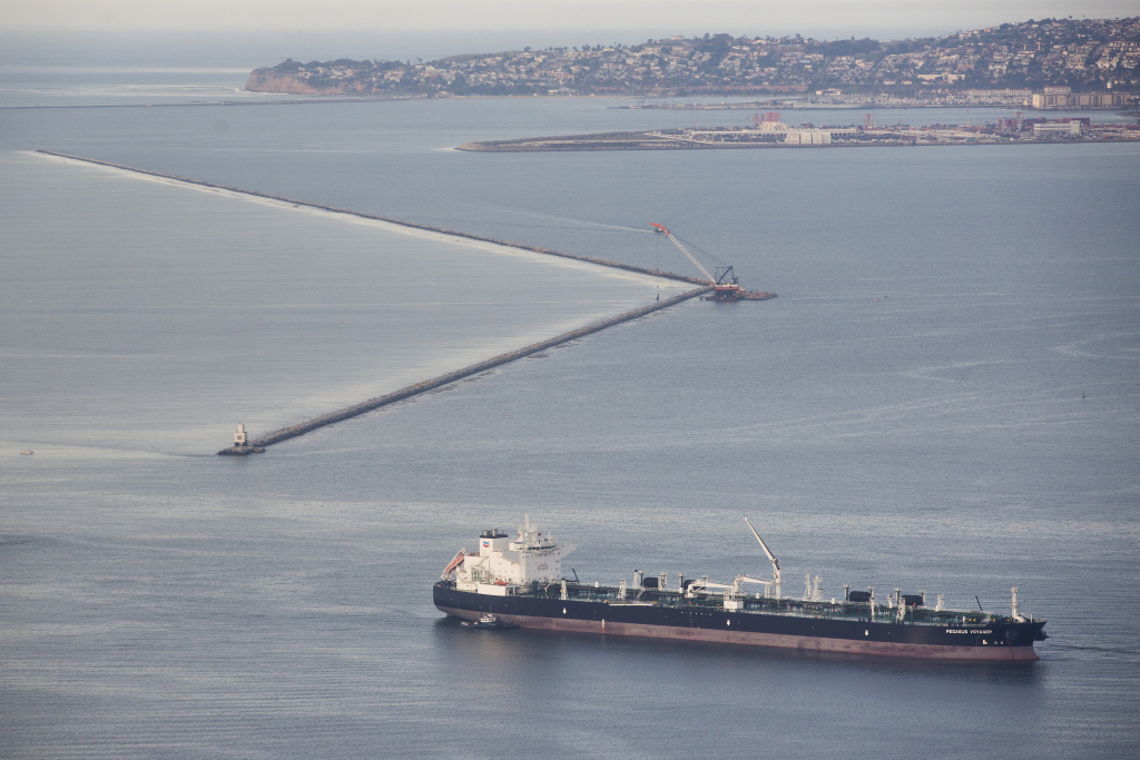 The Port of Long Beach as seen on Thursday morning, Jan. 21, 2016. Taken together, the Ports of LA and Long Beach are the single largest source of air pollution in Southern California.