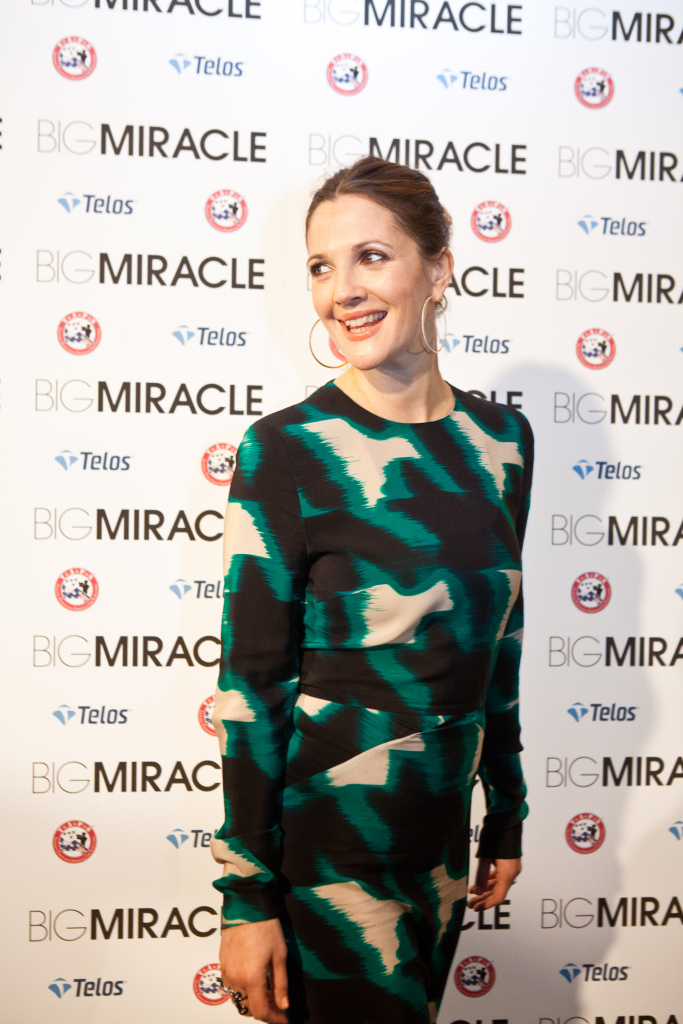 Actress Drew Barrymore poses for pictures at the Washington, DC screening of