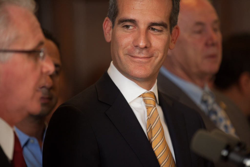 Mayor Eric Garcetti is in Washington, D.C. for a couple of days to lobby for federal funds for the L.A. River and regional transportation projects.